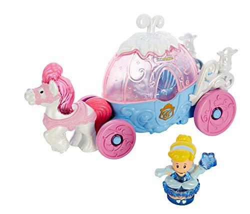 Fisher-Price Little People Disney Princess Cinderella's Lights & Sounds Carriage,Multi Color