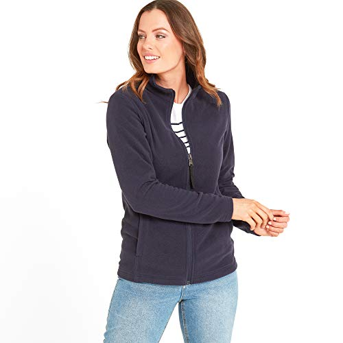 TOG 24 Shire Women's Jacket Fleece, Lightweight Microfleece Cosy Super Soft Brushed Interior Lining Full Length Zip, Warm Mid Layer with Anti Pill Protection Against Pilling Classic Design High Neck