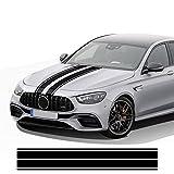 Auto Pegatinas de Calcomanías Stripe Lateral, para Mercedes Benz CLA45 W176 W177 W204 W205 C63 Ace GLA CLA GLC AMG W212 Bonnet Stripes Car Hood Sticker Decal