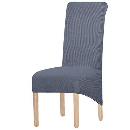 KELUINA XL Stuhlhussen,Universal Stretch Stuhlhussen 2er 4er 6er Set Stuhlbezug für Stuhl Esszimmer(Grau,2 Stück)