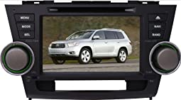 .8 inch car dvd gps for 2008 2009 2010 2011 2012 toyota highlander with steering wheel control+phonebook+ip... .