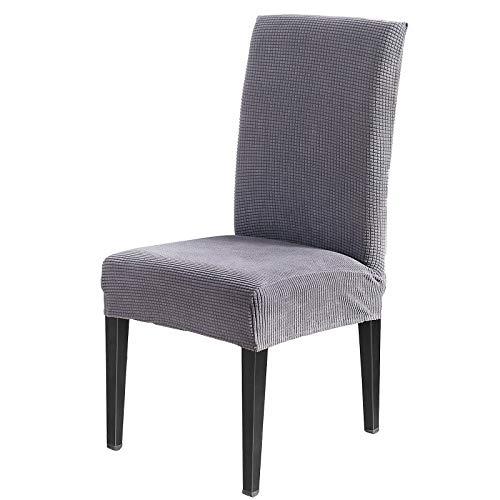AngLink Stuhlhussen, Stuhlhusse Stretch Grau, Elastischer Stuhlbezug Stretch Abnehmbare Waschbar