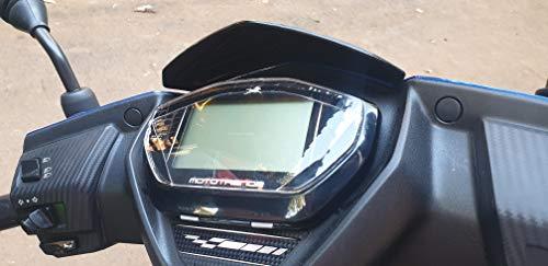 Mototrendz Speedometer Protector for TVS NTORQ 125 | Neon Green | 3 mm Thick | Made in India | Mototrendz