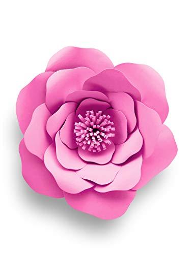 Crafting Dies – Troquel de 20 cm rosa grande metálico con pétalos grandes