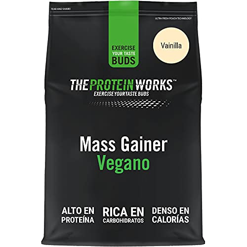THE PROTEIN WORKS Vegan Mass Gainer | 100% A Base De Plantas | Alto En Calorías Para El Aumento De Masa | Crema Alla, 2000 Gramo