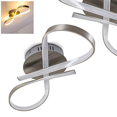 Plafoniera LED Parson - Lampada da Soffitto Elegante dal Design Moderno - Cerchi LED Efficienza A++ - Metallo con Paralume Bianco - 15 watt con 1275 Lumen