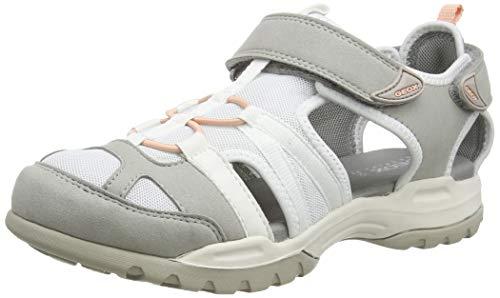 Geox Damen D BOREALIS A, Grau (Lt Grey/White C1303), 39 EU