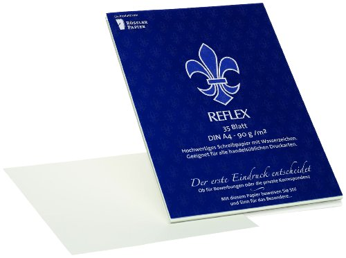 Rössler 23003201 - Reflex - Korrespondenzpapier DIN A4, 35 Blatt
