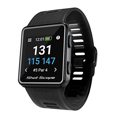 Shot Scope Unisex-Adult V3 GPS-Uhr, Schwarz, One Size