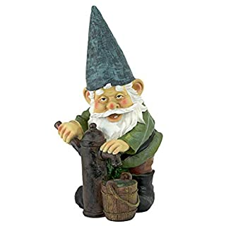 Garden Gnome Statue Water Pump