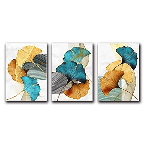 ZXYFBH-Cuadros decoracion salon modernos 3 piezas 70x90cm sin marco azul verde amarillo...