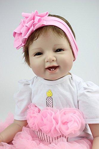 HOOMAI 22inch 55cm bello bambole reborn baby doll femmina silicone molle realistica rinato girls regali giocattoli