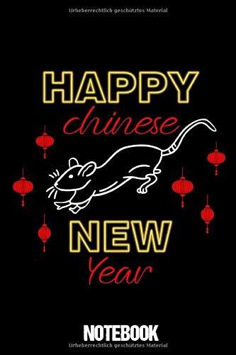 Notebook Happy Chinese New Year: Notizbuch Blanko A5 Lustiges Geschenk Für Chinesische Freundin / Organizer Mit 120 Seiten Notizen Schreibheft Liniert ... Oder Notizheft Für Neujahrsfest China