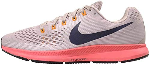 Nike Men's Air Zoom Pegasus 34 Running Shoe, 11.5, Moon Particle/Blackened Blue