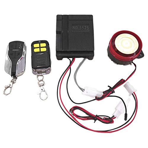 Yaootely Coche y Moto Alarma Antirrobo Universal para VehíCulos de 12V Sistema de Alarma Remota Dual de Bicicleta y Motocicleta