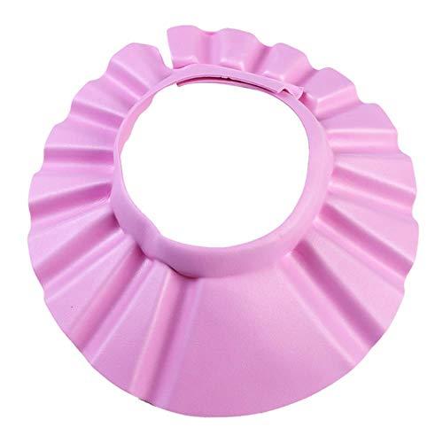 Bébé Resizable Shampooing Cap Bath Shower Cap Safe Bathing Hat Wash Hair Shield Enfants Enfants Réglable Élastique Funny Caps 37-42cm # 20, Rose