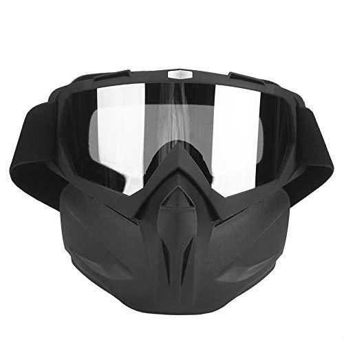 Gafas de moto Hombre Mujer Gafas de moto de nieve Esquí Snowboard Invierno Nieve A prueba de viento Máscara al aire libre Gafas de sol (Matt Black)Gafas de moto Hombre Mujer Gafas de moto de nieve Esq