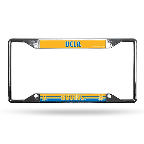 Rico Industries Unisex's NCAA UCLA Bruins Easy View Chrome License Plate Frame, Silver, 6 x 12-inches