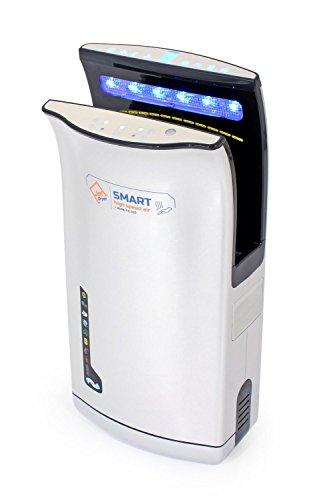Secador de manos comercial rápido y potente para inodoros Sistema de suelo seco Secador de jet SMART - Plata
