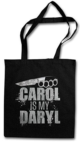 Urban Backwoods Carol is My Daryl Hipster Bag Beutel Stofftasche Einkaufstasche