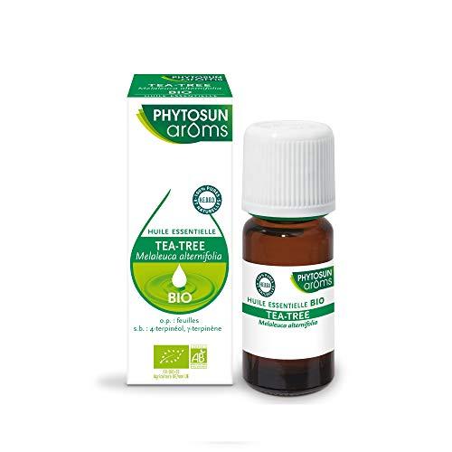 PHYTOSUN arôms – Huile Essentielle Tea Tree – Arbre à Thé – BIO – 100 % pure et naturelle – 1 x 10 ml