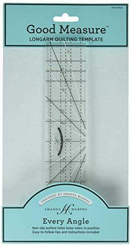"""Good Measure 1/4"""" Thick Machine Quilting ruler"""