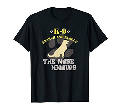 K9 Search and Rescue T-Shirt | Golden Retriever Dog