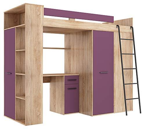 BIM Furniture Verana P - Litera (190 x 90 cm, con escaleras)
