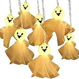 Bannili - Guirnalda luminosa de Halloween, 3 m, 20 ledes, guirnalda fantasma, para Halloween, Halloween, Halloween,...