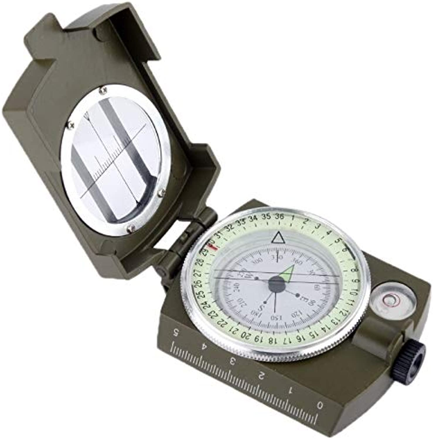 Perfect Home Professional Portable Pocket Military Army Geology Compass with Bubble Level Neck Strap Durable