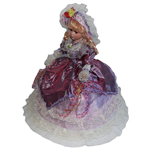 Fenteer Bambole di Porcellana da Collezione Belle Figurine, Statuette Vittoriane in Piedi,...