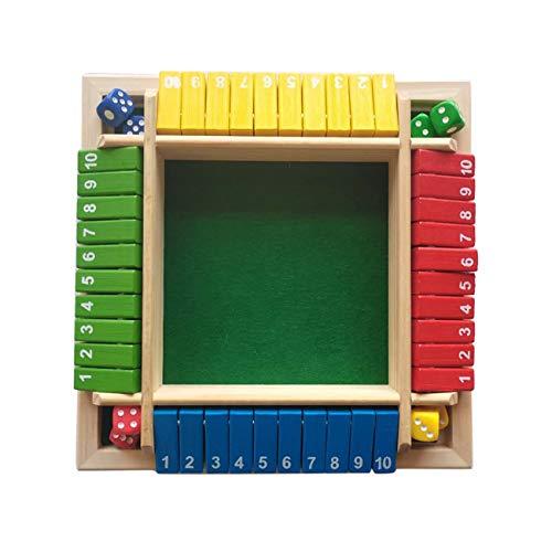Jeu de société de luxe en bois, jeu de société en bois Shut the Box, jeu de dés mathématiques traditionnels, jeu de mathématiques pour enfants, fête de famille