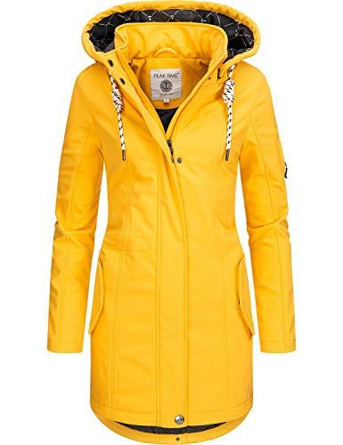 Peak Time Damen Softshell Mantel L60013 Gelb Gr. XXL