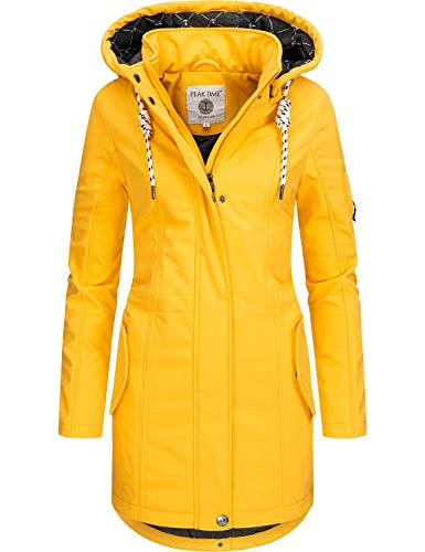 Peak Time Damen Softshell Mantel L60013 Gelb Gr. M