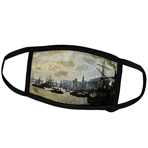 3dRose Florene - Monet Vintage Art - Print of Monet Painting Port of London