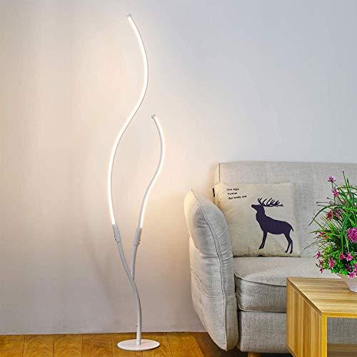 HMDJW Lámpara de pie LED, luz de Poste de pie dimmable Moderna con 3 temperaturas de Color, lámpara de pie estética para Sala de Estar, Dormitorio, Oficina, Trabajo y Lectura