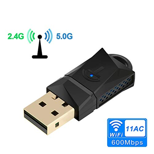 LYY USB WiFi Adapter, 600Mbps Dual Band Wireless Wi-Fi Ethernet...