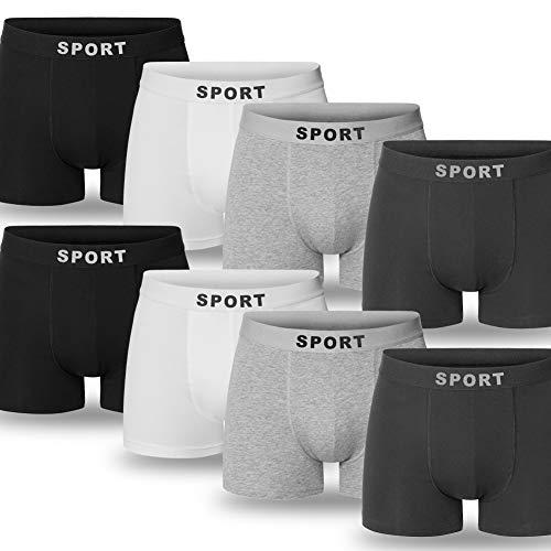 DIFA FIT Boxers para Hombres, Calzoncillos Hombre Bóxer de algodón, Trunk Boxershorts (Pack de 8 (Multicolor), M)