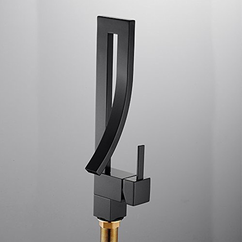 Hand Malerei Küche Waschbecken Armatur chrom Nickel poliert gebürstet Metall schwarz Badezimmer Armaturen 3 Wahlmglichkeiten tippen, EIN