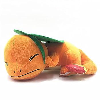 Premium Stuffed Animals Pokemon Toys 28Cm Cute Sleeping Position Charmander Short Plush Cartoon Gifts for Children
