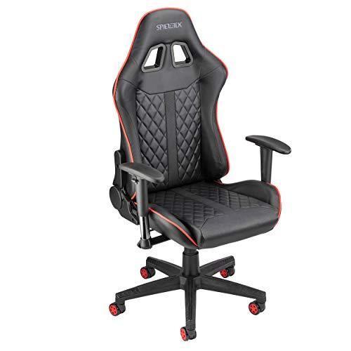 Spieltek 100 Series Gaming Chair (Black & Red)