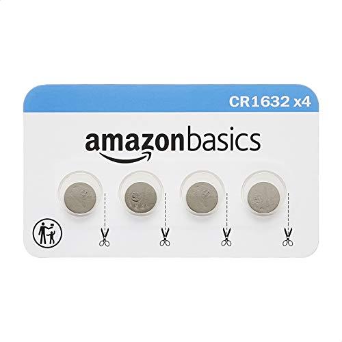 Amazon Basics 4 Pack CR1632 3 Volt Lithium Coin...