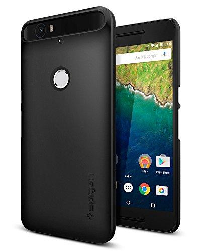 Nexus 6P Case, Spigen [Thin Fit] Exact-Fit [Black] Premium Matte Finish Hard Case for Nexus 6P (2015) - Black (SGP11814)
