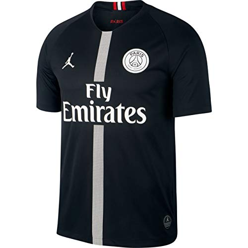 Nike Herren Paris Saint-Germain Breathe Stadium 3rd T-Shirt, Black/White, S