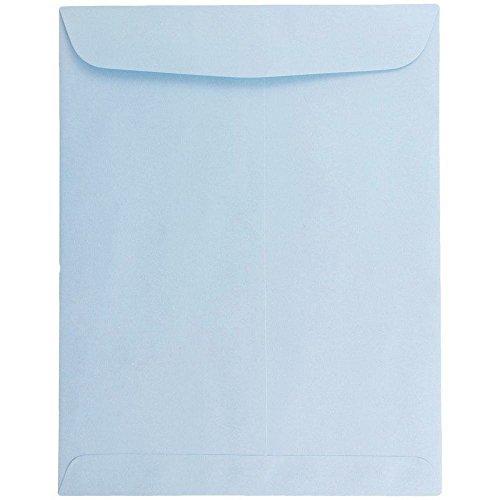 JAM PAPER 10 x 13 Open End Catalog Premium Envelopes - Pastel Baby Blue - 10/Pack