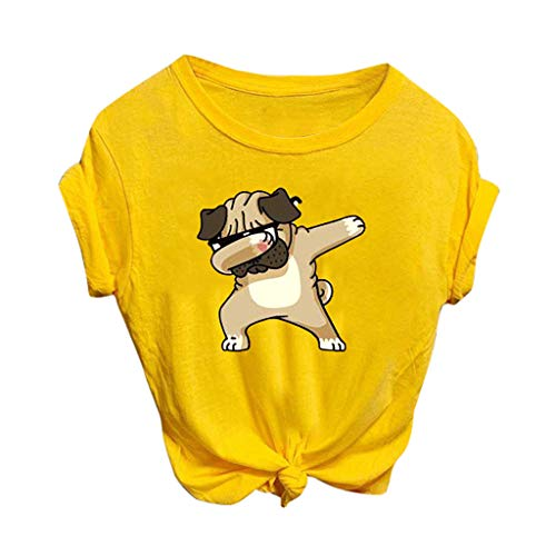 Best Review Of kaifongfu Cute Tops for Women Casual Short Sleeve Cartoon Printed Summer Tops Tee T-S...