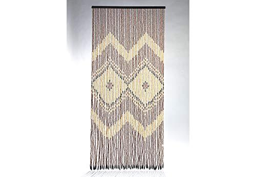 Kobolo Türvorhang Holzperlenvorhang Insektenvorhang Indie 49 Stränge 90x200 cm