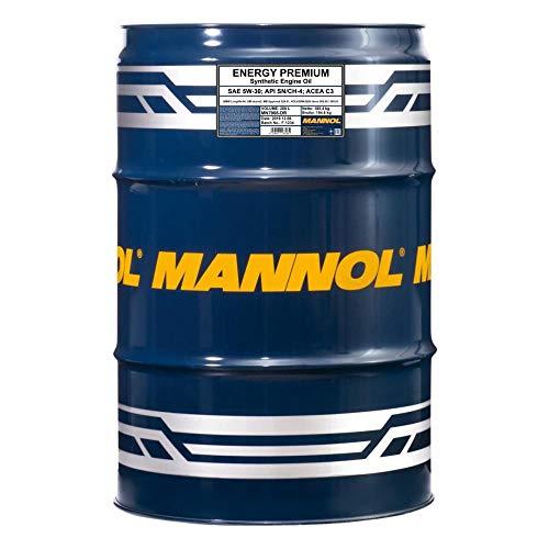 MANNOL 208 Liter Fass + Pumpe Energy Premium 5W-30 Dexos 2 C3 DPF Freigabe 229.51