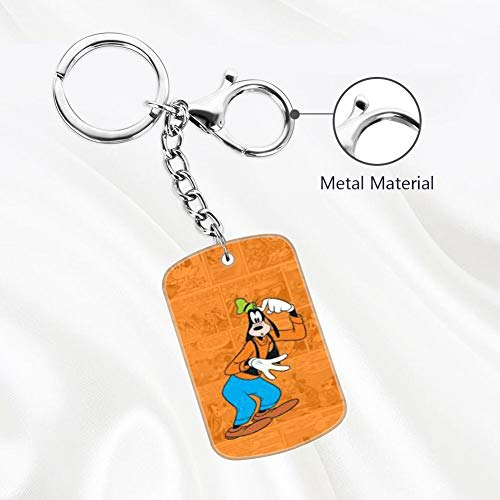 DISNEY COLLECTION Keychain Silver Clubhouse Wallpaper Tvshow Comics Cute Goofy Key Chain Key Ring for Home Car Keys Organization
