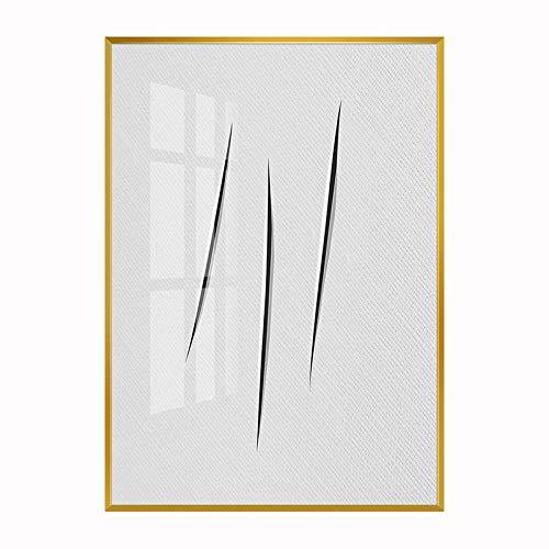 baodanla Kein Rahmen Schwarz-weißes abstraktes Messer markieren modernes minimalistisches kreatives Ölgemälde KK 40x60cm
